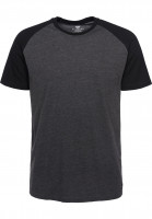 Element T-Shirts Basic Raglan charcoalheather Vorderansicht
