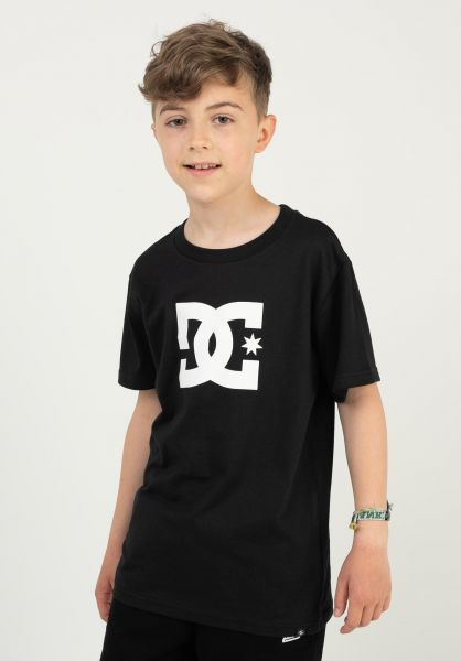 DC Shoes T-Shirts Star Kids black vorderansicht 0369499