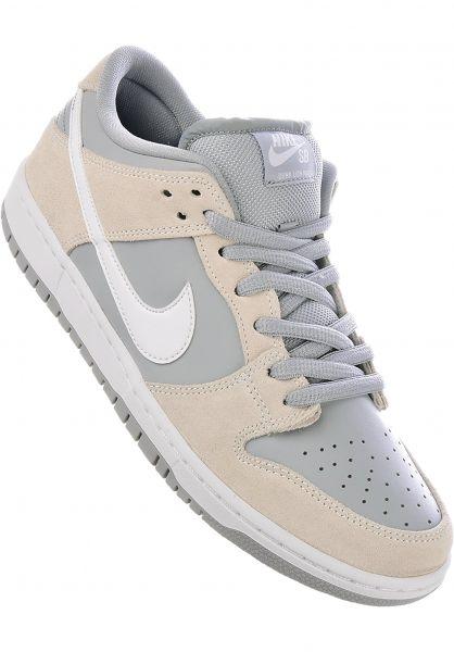 Nike SB Alle Schuhe Dunk Low summitwhite-white-wolfgrey Vorderansicht