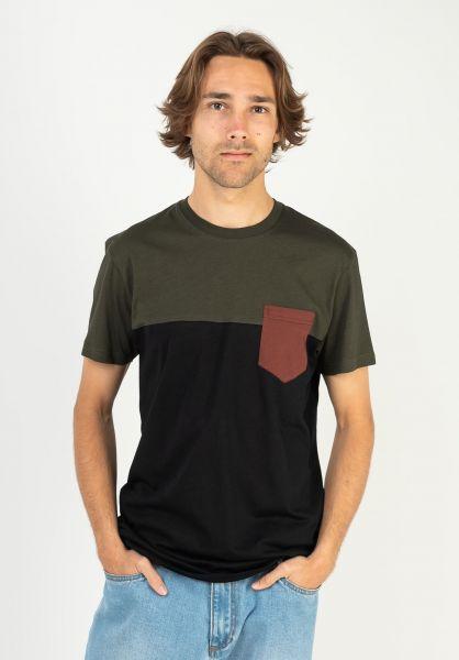 iriedaily T-Shirts Block Pocket nightolive vorderansicht 0394022