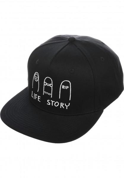 TITUS Caps Life Story Snapback black Vorderansicht