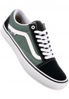 Vans Alle Schuhe Old Skool Pro black-duckgreen Vorderansicht