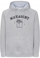 Mahagony Hoodies Brand Hood Sweater greymelange Vorderansicht