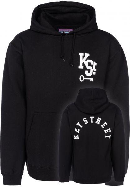 Key Street Hoodies Arch Logo black vorderansicht 0445190