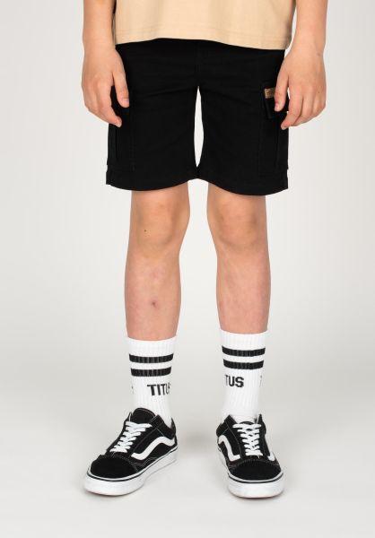 TITUS Shorts Twill Cargo Kids black vorderansicht 0551840