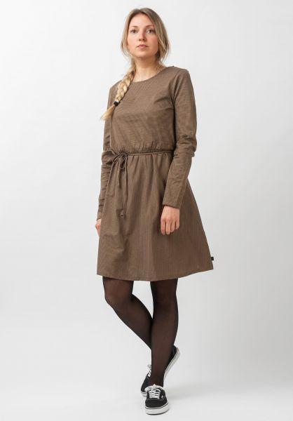 Forvert Kleider Tiffy darkbeige-darknavy vorderansicht 0801533