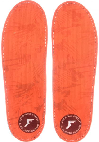 Footprint Insoles Einlegesohlen King Foam Camo Orthotics orange vorderansicht 0249109