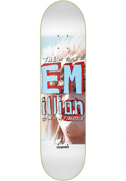 EMillion Skateboard Decks Sketch II Fibertech white-blue vorderansicht 0262542