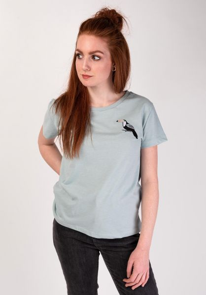 Mazine T-Shirts Dixie lightbluemelange vorderansicht 0399213