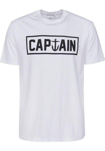 Captain Fin T-Shirts Naval Captain white-black Vorderansicht