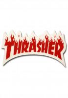 Thrasher-Verschiedenes-Flame-Sticker-Small-red-Vorderansicht