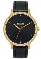 nixon-uhren-kensington-leather-women-gold-black-vorderansicht-0810405