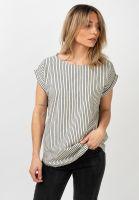 wemoto-t-shirts-bell-striped-sand-melange-black-vorderansicht-0321385