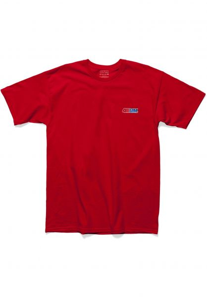 Transworld T-Shirts 411VM Embroidered red vorderansicht 0399634