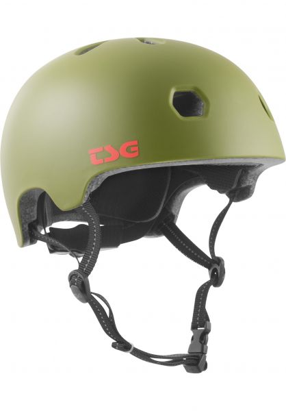 TSG Helme Meta Solid Color satin olive vorderansicht 0750123