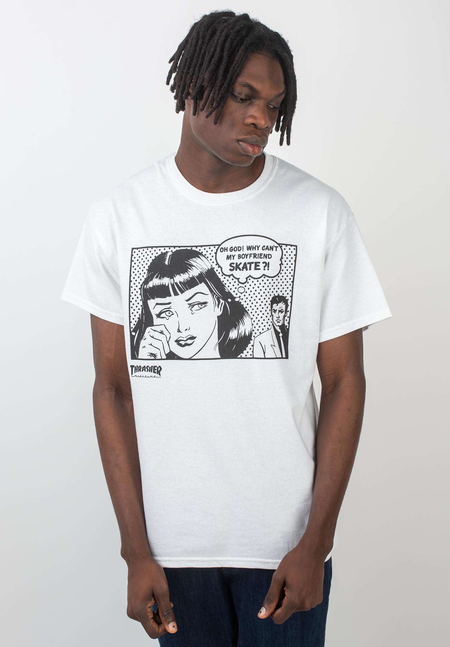 99b54dc53 Boyfriend Thrasher T-Shirts in white for Men | Titus