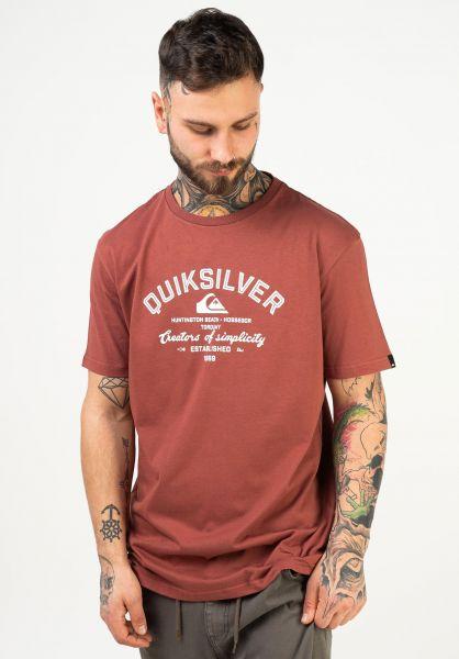 Quiksilver T-Shirts Creators Of Simplicity II henna vorderansicht 0322504