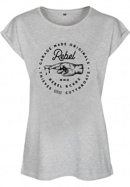 Rebel Rockers T-Shirts TnC Girls greyheather Vorderansicht