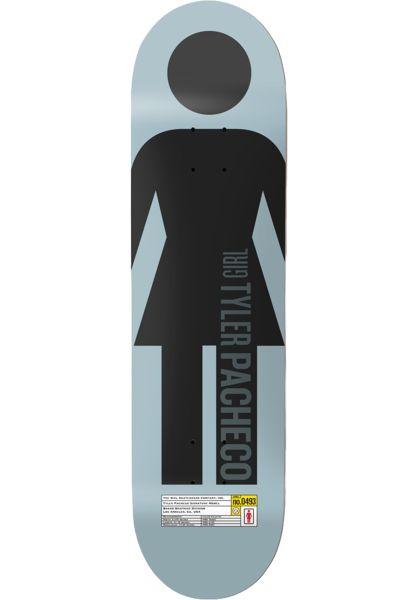 Girl Skateboard Decks Pacheco Grid OG lightblue vorderansicht 0263182