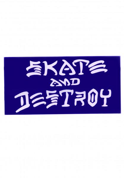 Thrasher Verschiedenes Skate and Destroy Medium Sticker blue Vorderansicht