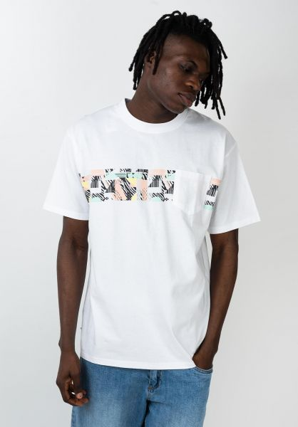 TITUS T-Shirts 80s Pocket white vorderansicht 0320804
