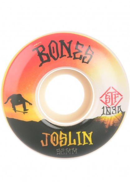 Bones Wheels Rollen STF Joslin Sunset 103A V1 Standard white vorderansicht 0135355