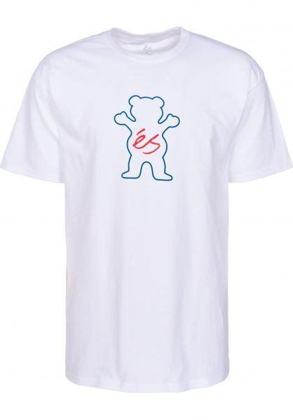 ES T-Shirts Deuce x Grizzly white Vorderansicht