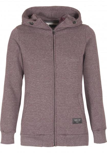 Forvert Zip-Hoodies Finchen burgundy-grey Vorderansicht