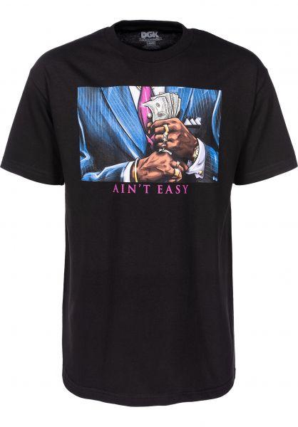 DGK T-Shirts Ain't Easy black Vorderansicht