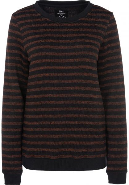 TITUS Strickpullover Gloria rust-striped Vorderansicht