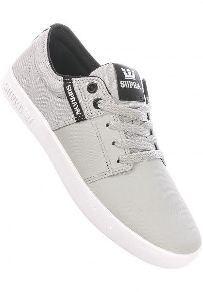 Supra Alle Schuhe Stacks II lightgrey-tuf-white vorderansicht 0603560