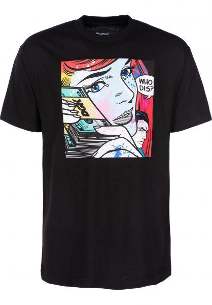 DGK T-Shirts Whos Dis? black Vorderansicht