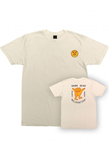 Dark Seas T-Shirts Hand Signals Pigment Dyed ivory vorderansicht 0320874