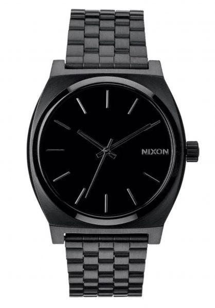 Nixon Uhren The Time Teller allblack vorderansicht 0810087