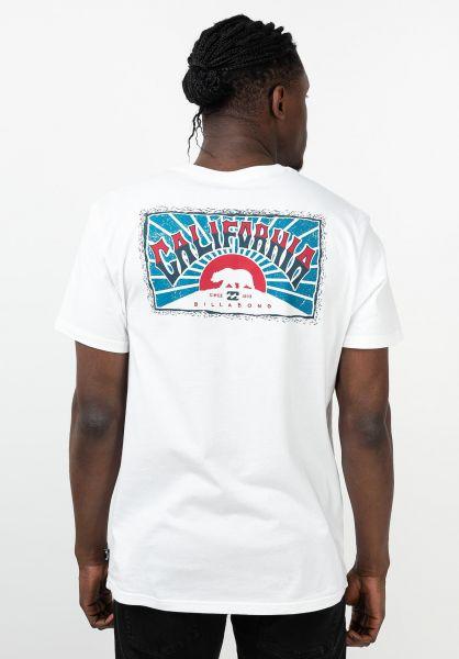 Billabong T-Shirts Dreamy Place white-blue vorderansicht 0321588