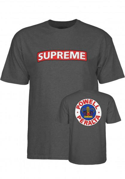 Powell-Peralta T-Shirts Supreme charcoal-heather Vorderansicht