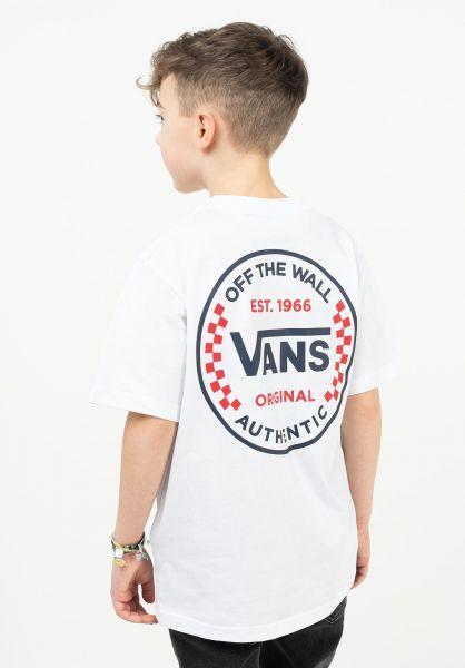 Vans T-Shirts Authentic Checker Kids white vorderansicht 0323445