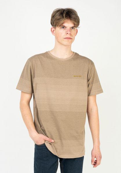 Mazine T-Shirts Carno Striped tan vorderansicht 0324070