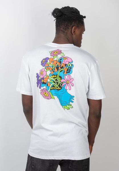 Santa-Cruz T-Shirts Baked Hand white vorderansicht 0320435