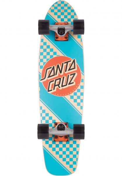 Santa-Cruz Cruiser komplett Check Stripe Jammer lightblue Vorderansicht