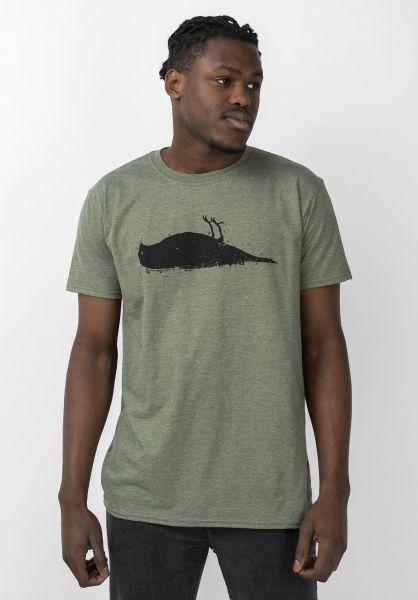 Atticus T-Shirts Bird heathermilitary-green vorderansicht 0370254