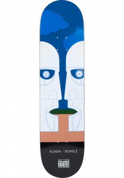 TITUS Skateboard Decks Longplayer Vladik blue-black Vorderansicht