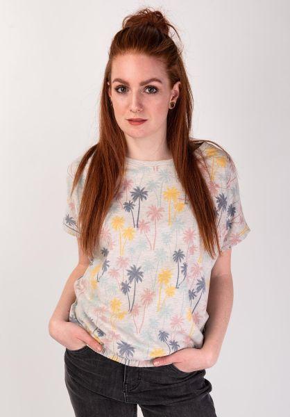 Mazine T-Shirts Celina offwhitemelange-printed vorderansicht 0399215