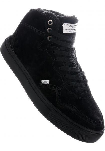 Djinns Alle Schuhe Highwaik Fur black-black vorderansicht 0604493
