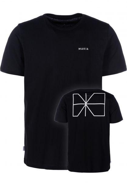 Makia T-Shirts Trim black vorderansicht 0383343