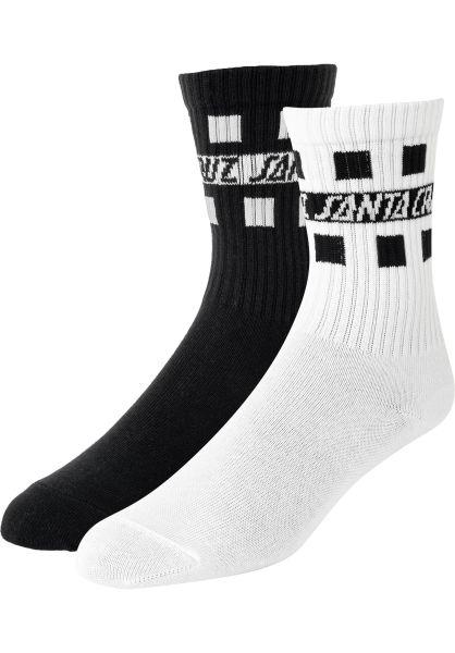 Santa-Cruz Socken Strip Check assorted vorderansicht 0631815