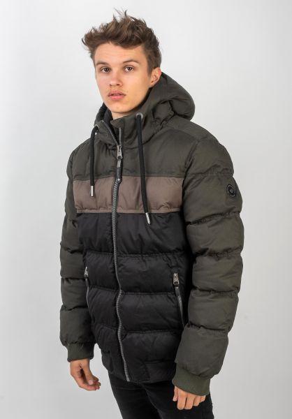 Ragwear Winterjacken Ector darkgreen vorderansicht 0250115