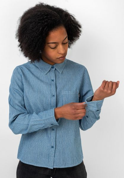 TITUS Hemden langarm Keira blue-striped vorderansicht 0411899