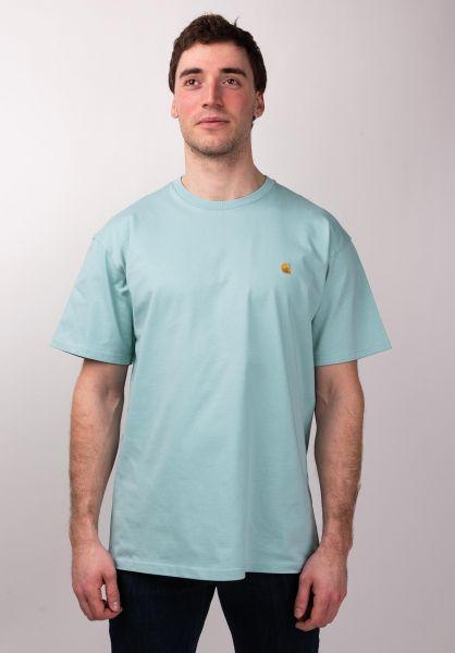 Carhartt WIP T-Shirts Chase softaloe-gold vorderansicht 0396618