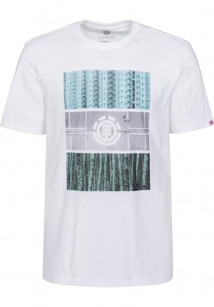 Element T-Shirts Parallel opticwhite Vorderansicht